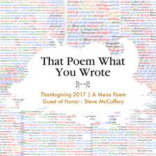 steve mccaffery thanksgiving menu poem 2017