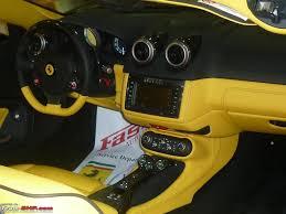 ferrari yellow and black ferrari pre pdi and post pdi team bhp
