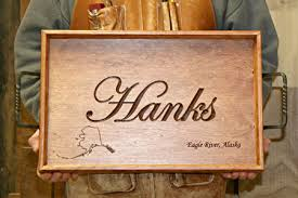 personalized serving tray personalizing your gifts gathering wood