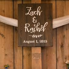 wedding names and date wood sign aimee weaver designs llc