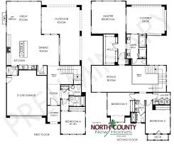 Scripps Ranch Floor Plans Portofino Floor Plans New Homes In Carmel Valley