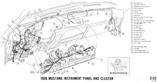 1968 ford mustang instrument wiring diagram 1968 wiring diagrams