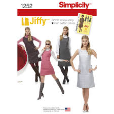 pattern for misses u0027 and miss petite dress or jumper simplicity
