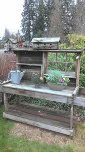 best 20 rustic potting benches ideas on pinterest potting