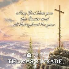 hallmark kinkade blessed easter ecard the kinkade