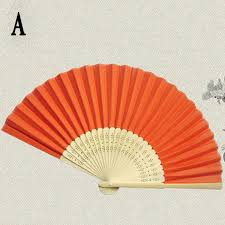 held fans bulk paper fans pocket folding bamboo fan wedding