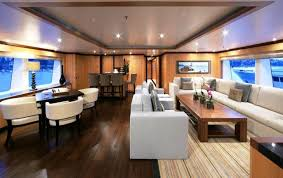 Power Boat Interiors Stunning Wide Beam Boat Interior Design Pics Decoration