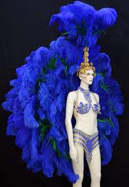 blue samba costume rio back piece rumba headdress want