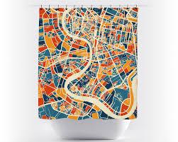 Bangkok Map Bangkok Map Shower Curtain Thailand Shower Curtain Chroma