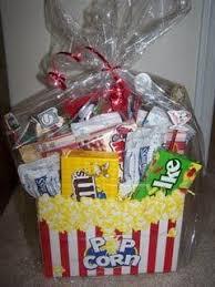 Christmas Gift Baskets Family Best 25 Movie Basket Gift Ideas On Pinterest Movie Night Gift