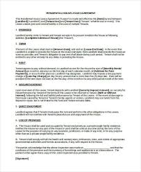 8 residential lease agreement form samples free sample example