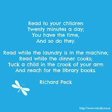 Love A Child Quotes by Read To Your Children We Love This Richard Peck Poem Quote