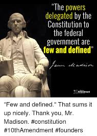 Memes Defined - the powers delegated by the constitution to the federal government