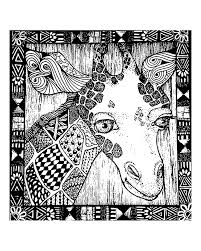 africa giraffe head africa coloring pages for adults justcolor