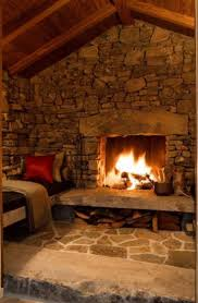 rustic stone fireplaces classic stone house architecture ideas with large fireplace beside