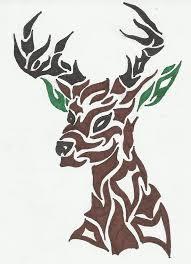 beautiful tribal deer design tattooshunter com