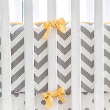 yellow and gray chevron crib bumper chevron crib bumper crib