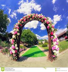 garden gate flowers flower wedding gate stock image image of floral footpath 56740263