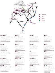 Jerome Arizona Map by Wine Trail Map U2013 The Vineyards Bed U0026 Breakfast