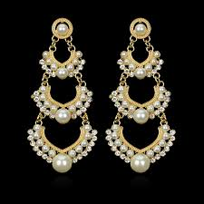 chandelier wedding earrings indian wedding earring chandelier hanging earrings gold color