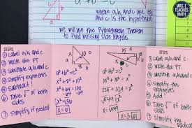 Pythagorean Theorem Triples Worksheet Pythagorean Theorem Inb Pages Mrs E Teaches Math