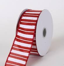 cheap ribbon burlap ribbon multi stripes w 1 1 2 inch l 10 yards