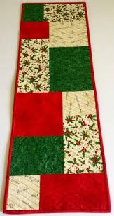 christmas table runner quilted fabric from hoffman fabrics