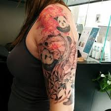 88 panda sleeve tattoos