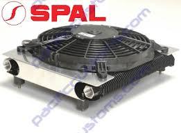 oil cooler fan kit spal usa 72 plate oil cooler and fan kit pusher fan