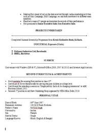 Mba Finance Resume Sample by Sample Template Of An Mba Finance And Marketing For Fresher And