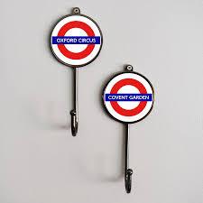 themed wall hooks london underground tfl station landmark coat hook by pushka