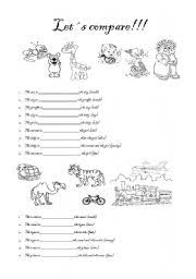 comparative form with short adjectives