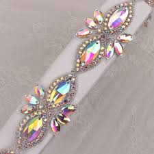 online get cheap trim beaded oval aliexpress alibaba group 10yards stones and crystals applique handmade sew on rhinestones patches beaded bridal decoration crystal trimming for dresses