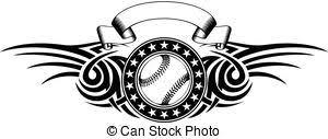 creative abstract conceptual design of baseball vectors