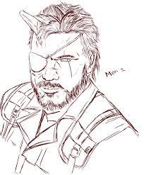 heres a venom snake sketch i was working on metalgearsolid