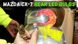 mazda cx 7 rear led light bulbs install cx7 brake light bulb youtube