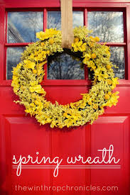 whimsical spring forsythia wreath jenna burger spring wreath idea dried flowers from the market crafts