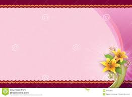pink background with flower for blank card royalty free stock