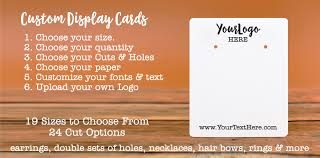 customized earring cards and product display cards
