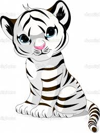 tiger cub coloring pages cute white tiger cub stock vector