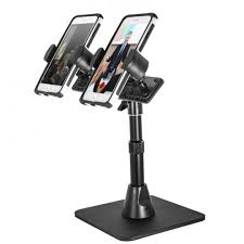 tw broadcaster pro stand dual phone desk stand for live