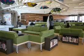Comfy Library Chairs Media Center To Learning Commons One District U0027s Transformation