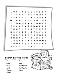 bathroom vocabulary for kids learning english printable resources