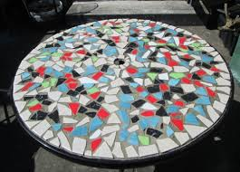 ceramic tile table top how do you make mosaic designs from ceramic tiles feltmagnet within