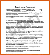 employee contract template resume name