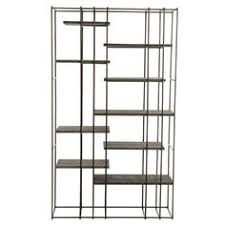 reclaimed pine iron bookcase pine iron and shelves