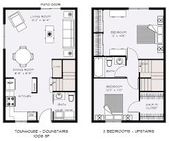 two house plans townhouse floor plans designs homes floor plans