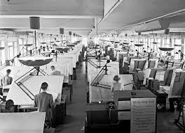 bureau etudes un bureau d études automobile en 1950 scientific image