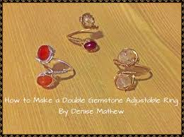 how to make a wire double gemstone ring by denise mathew youtube