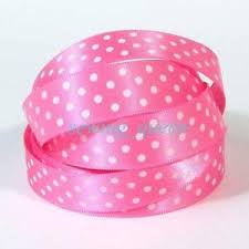 pink polka dot ribbon polka dot ribbon ebay